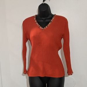 Silk Orange Long sleeve Sweatshirt